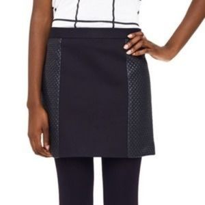 Club Monaco black mini skirt quilted faux leather